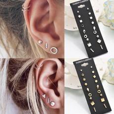 geometricearring, punk earring, Stud Earring, Simple