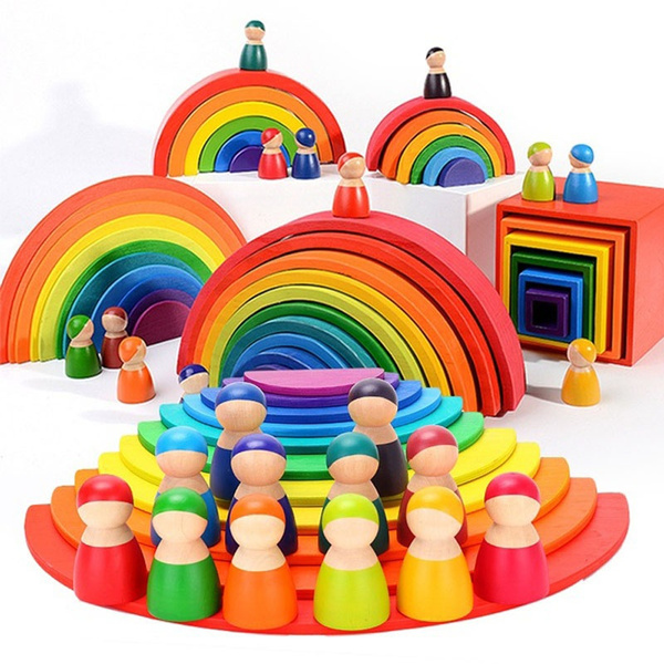 rainbow, Toy, montessoritoy, rainbowblock