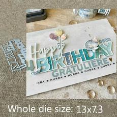 happybirthday, stencil, Scrapbooking, scrapbookingamppapercraft
