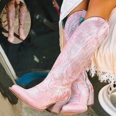 pink, Fashion, Spring, short boots