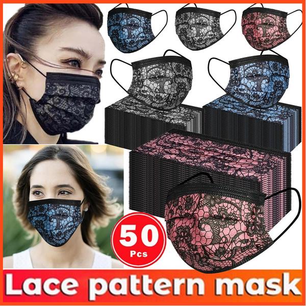 Fashion, mouthmask, Lace, Breathable