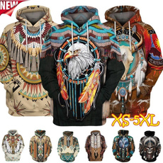 Couple Hoodies, 3D hoodies, Fashion, nativeamerican