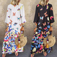 butterfly, Plus Size, long dress, plus size dress