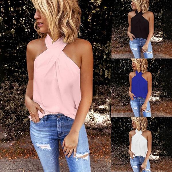 halter top, blouse, Vest, Fashion