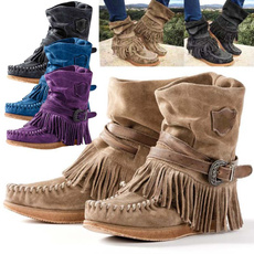 ankle boots, Tassels, midcalfboot, cowgirlboot