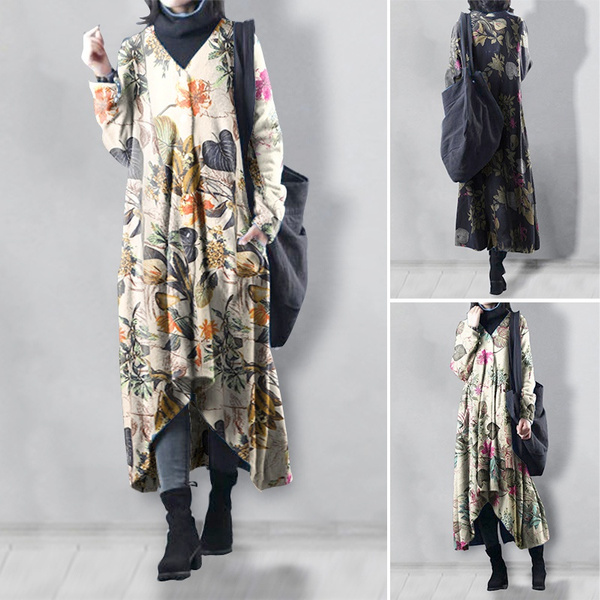 Dress, plus size dress, printed, Sleeve
