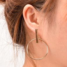 Hoop Earring, Dangle Earring, Jewelry, Simple
