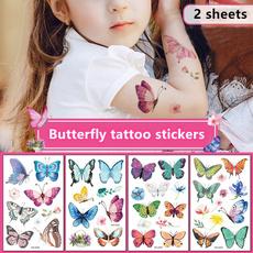 butterfly, cute, Flowers, transfersticker