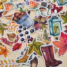 autumnleafsticker, Scrapbooking, dairysticker, leafsticker