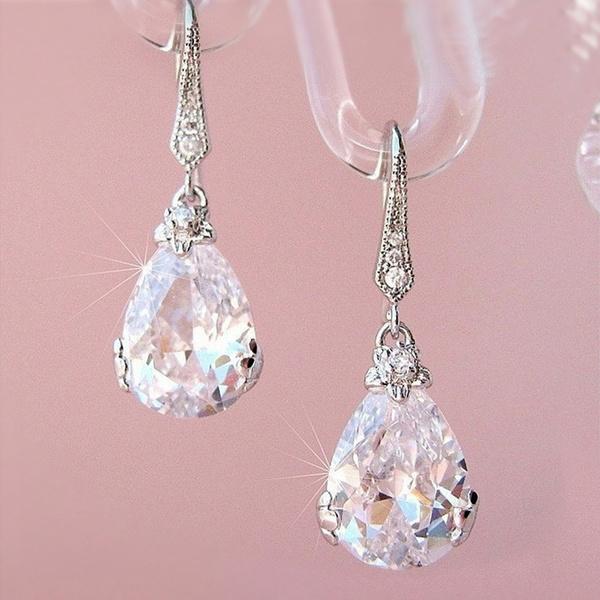 Sterling, Fashion, Gemstone Earrings, wedding earrings