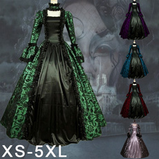 GOTHIC DRESS, gowncosplay, Medieval, Cosplay Costume