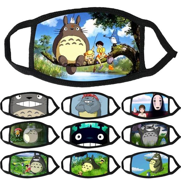 My neighbor totoro, hizaomiyazaki, halffacemask, printed