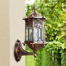Antique, Brass, Outdoor, Night Light