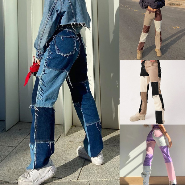 fashion women, dressesforwomen, Waist, rippedjean