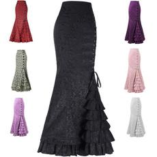 GOTHIC DRESS, vintageskirt, jupelongue, faldaslarga