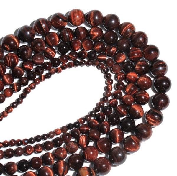redtigereyeloosebead, redtigereyenecklacebead, eye, Jewelry
