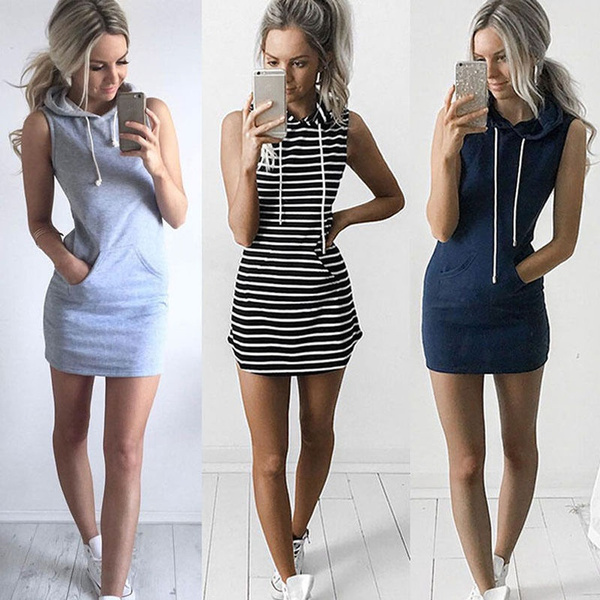 Mini, Fashion, hooded, Cocktail