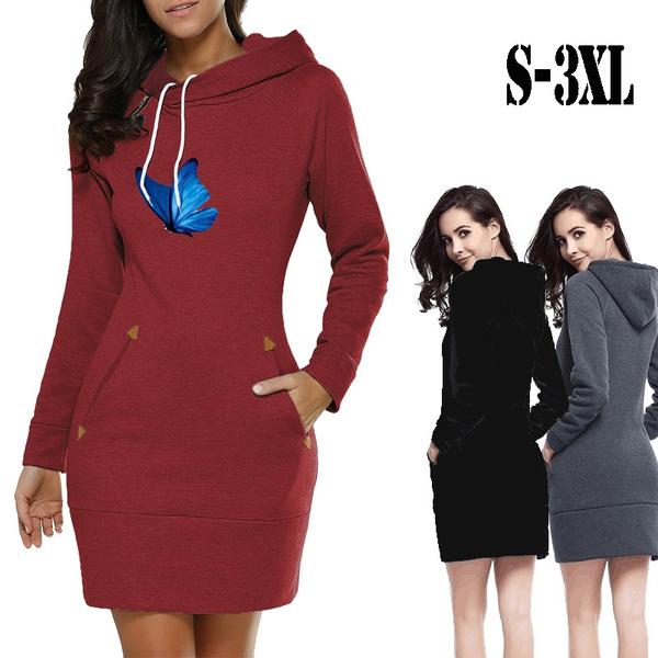 butterfly, slim dress, hooded, Sleeve