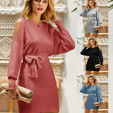 knitdre, slim dress, Bat, Fashion