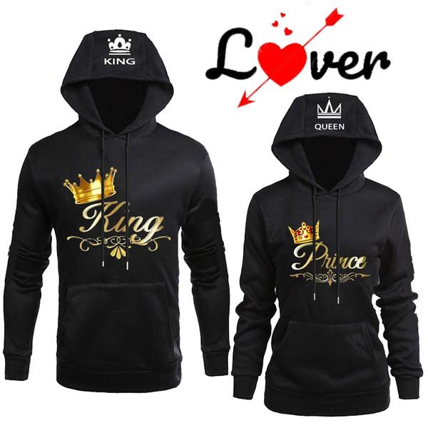 Couple Hoodies, King, Fashion, Winter