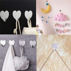 Bathroom, Hangers, Love, Wall