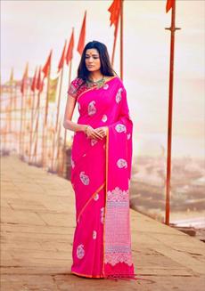 pink, silk, banarasisilk, silksareesale