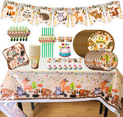 party, paperplate, animalstheme, Festival