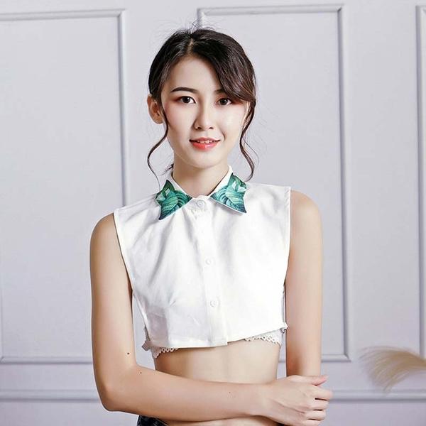 blouse, ladiesfashioncollar, Fashion, leaf