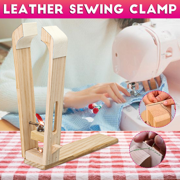 sewingstand, woodentableclamp, Home & Living, leathersewingclamp