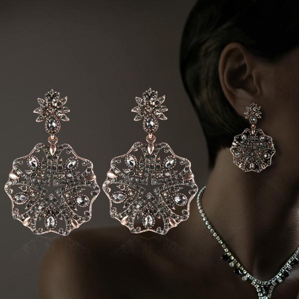 Antique, Gray, Flowers, Jewelry
