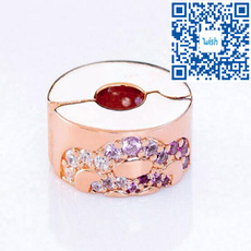 pink, Sterling, Silver Jewelry, charmbead