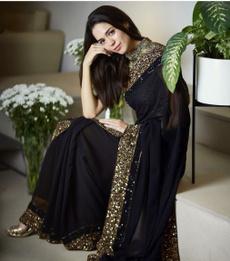 saree, Designers, black, sareeblouse