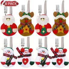 snowman, Pocket, tablewarebag, Christmas