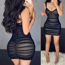 Mini, Club Dress, Spaghetti Strap, Lace