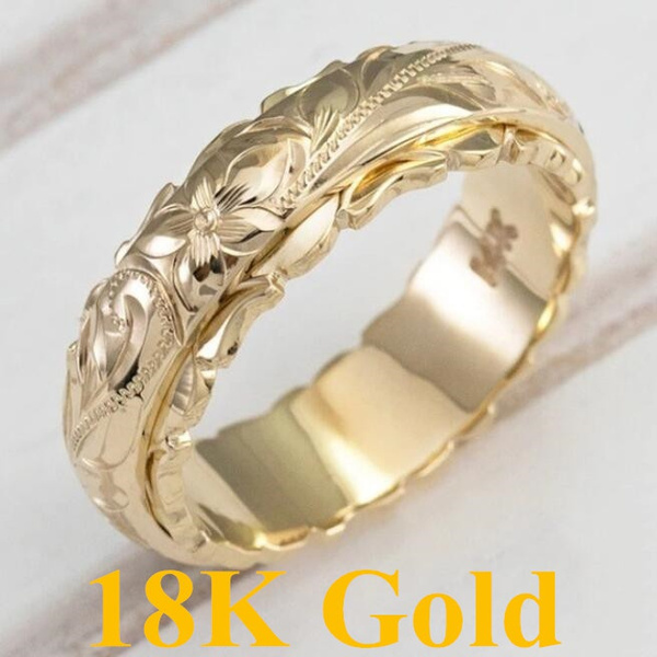 18 k, Flowers, Jewelry, gold