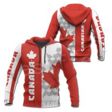 Canada, 3D hoodies, Fashion, leaf