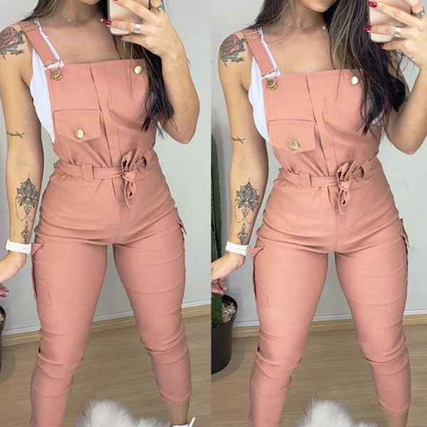 bodycon jumpsuits, Fashion, button, Jumpsuits & Rompers