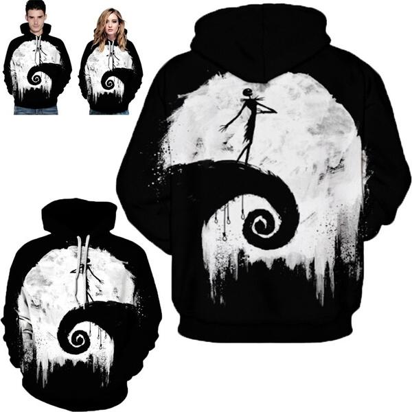 Couple Hoodies, Fashion, Winter, jackskellington