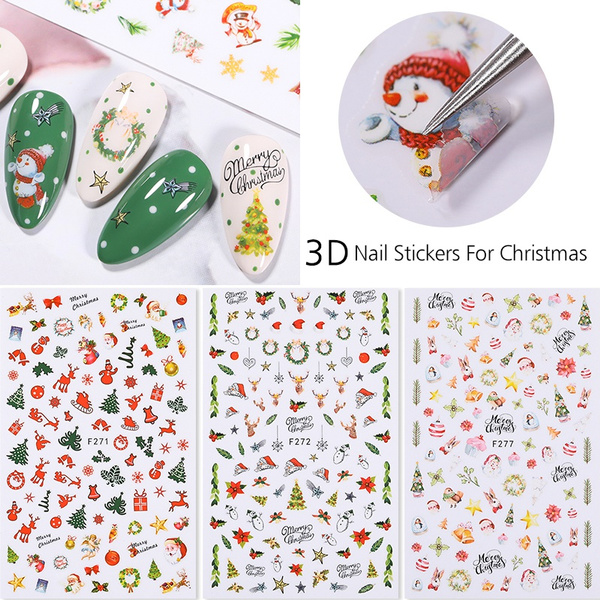 nail stickers, Winter, Beauty, Design