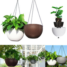 Decoración, hangingbasket, planter, Pot