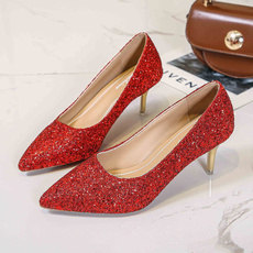 sequinshoe, thinheelsshoe, Plus Size, wedding shoes