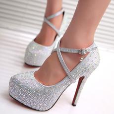 thinheelsshoe, Plus Size, Waterproof, wedding shoes