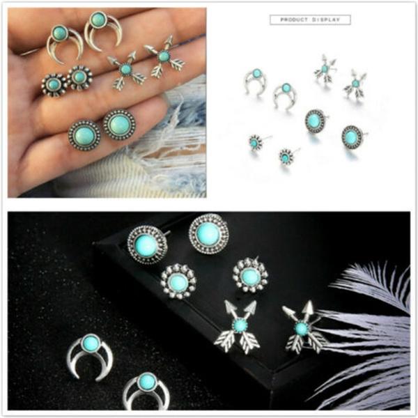 Turquoise, Jewelry, Stud Earring, Vintage