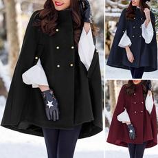 doublebreastedponcho, Winter, cape, Coat