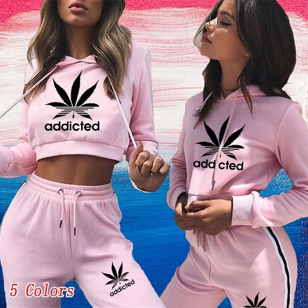 2pieceset, tracksuit for women, Fashion, women crop top