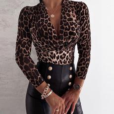 Cheetah, cheetahprint, Sexy Top, long sleeved shirt