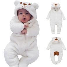 hooded, Algodón, babyromper, Bears