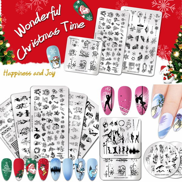 nailstamp, Steel, Stainless Steel, christmasdecal