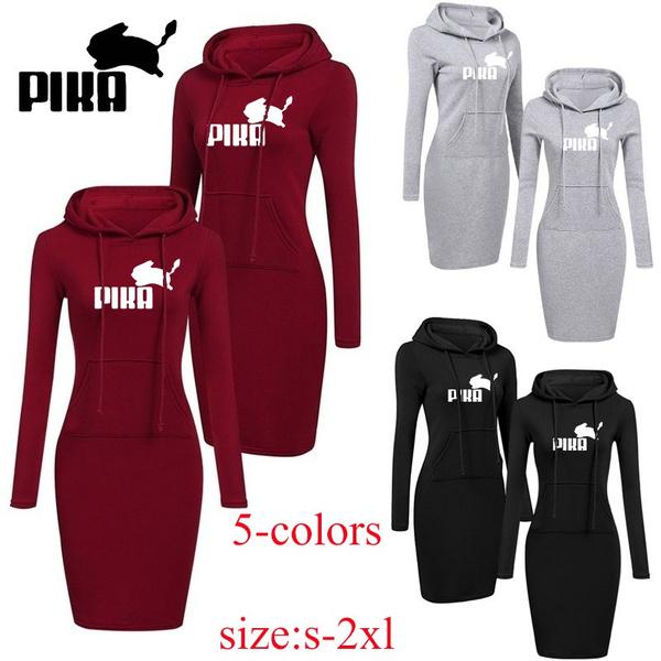 women pullover, Pocket, hooded, Sleeve