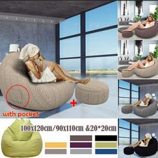 Cotton, beanbag, puffsofa, Home & Living
